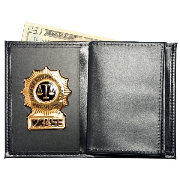 Badge Wallet With Double Larger Id And Credit Card Slots