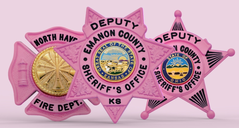 Pink Badges - Show your support for the National Breast Cancer Foundation!