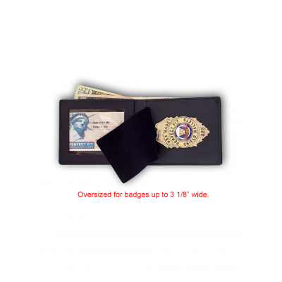 Oversized Western-Style Badge Wallet
