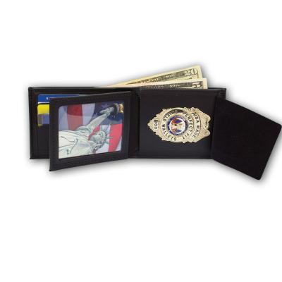 PF-107 Bifold Badge Wallet with Flipping ID