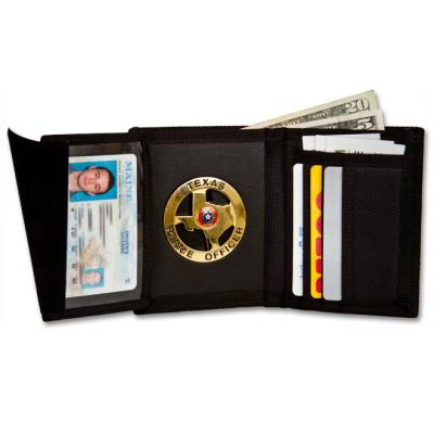 Deluxe nylon Recessed hidden badge wallet