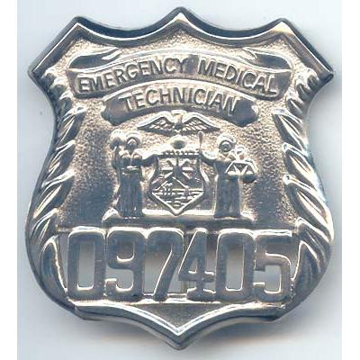 New York State Emergency Medical Technician Badge