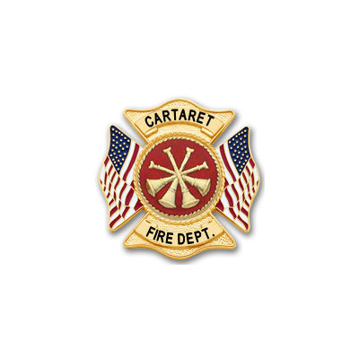 Carteret Fire Department S648 American Pride Badge