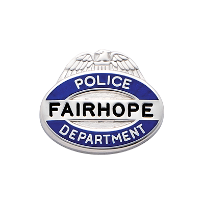 Fairhope Police Department Pin Model C718BL
