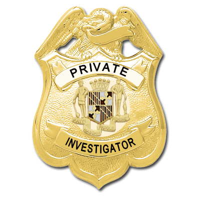 Maryland Private Investigator Badge