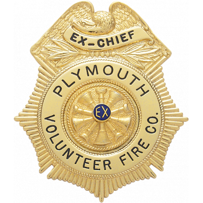 Plymouth Volunteer Fire Co. Badge Model S153