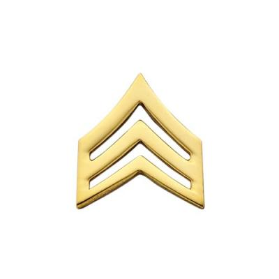 Triple Chevron Collar Insignia shown in gold.