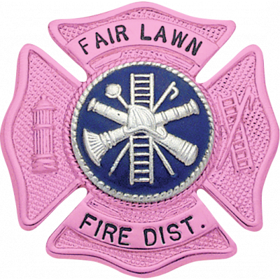 Fair Lawn Fire Dist. Breast Cancer Awareness Badge Model F145