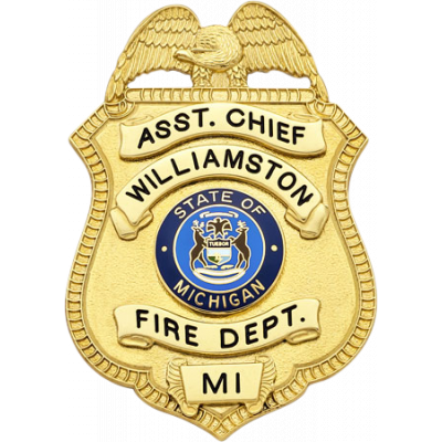 Williamston Fire Department Assistant Chief Michigan Badge Model S22