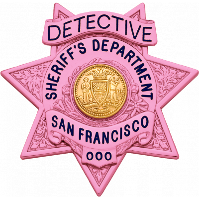 San Francisco Sheriff's Department Breast Cancer Awareness Badge Model S574B-PINK