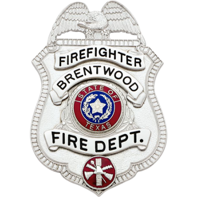 Brentwood Fire Department Firefighter Badge Model S97