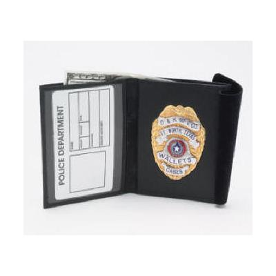 Traditional Bi-fold Badge and ID Wallet Model DK-15