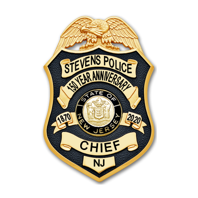 Stevens Institute of Technology Anniversary Badge - Chief