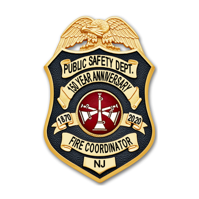 Stevens Institute of Technology Anniversary Badge - Fire Coordinator