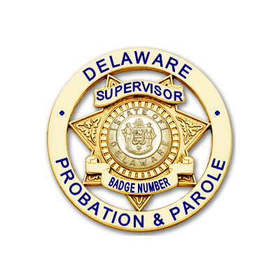 Delaware Probation & Parole Supervisor Badge
