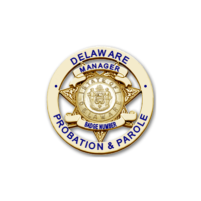 Delaware Probation & Parole Manager Badge
