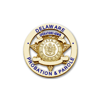 Delaware Probation & Parole Operations Adamin Badge