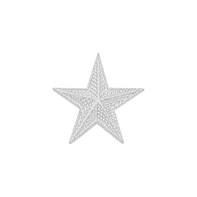 Smith & Warren Textured Single Star Collar Insignia