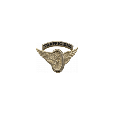 "Small Motorcycle Wings ""TRAFFIC DIV."" - Gold"