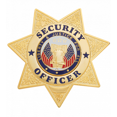 W63 Security Officer Star-Shaped Badge