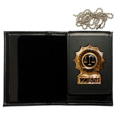 Product Image 1 for custom badge wallet product Four-In-One Dress Leather w/ Single ID