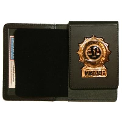 Product Image 1 for custom badge wallet product Duty Leather Flip Out Badge Case w/ Single ID Window