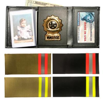 Product Image 1 for custom badge wallet product Tri-fold Bunker Badge Wallet w/ Single ID & CC Slots