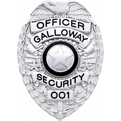 Galloway Security Officer Badge Model S658