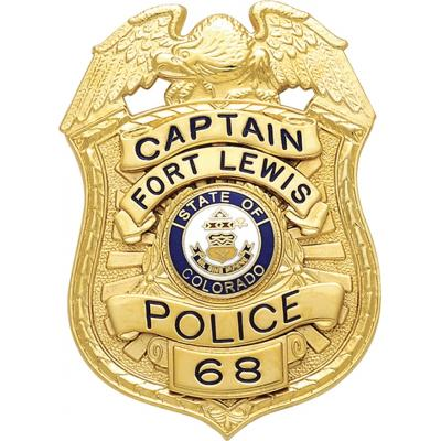 Captain Fort Lewis Police badge