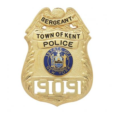 Town Of Kent Police Sergeant Badge Model S124