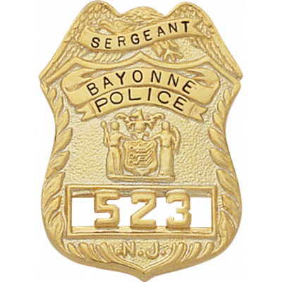 New Jersey Sergeant Badge Style Christmas Ornament