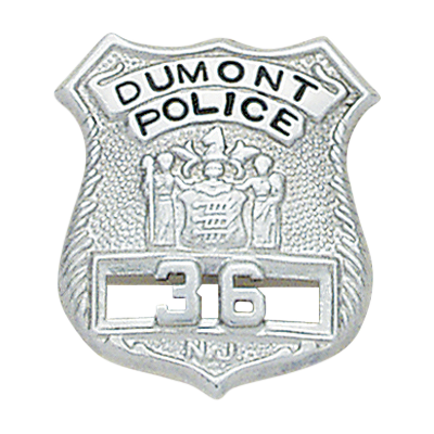 New Jersey Police Badge Style Christmas Ornament