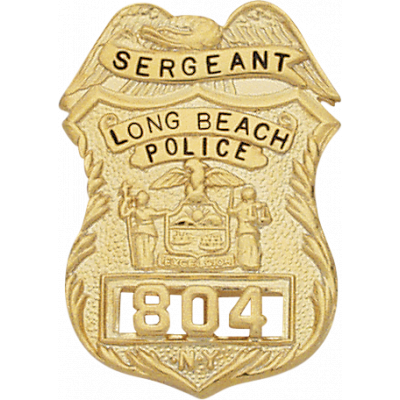 New york Sergeant Police Badge Style Christmas Ornament