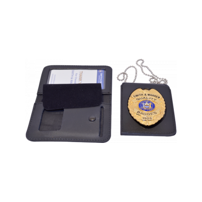DUTY LEATHER SINGLE ID & BADGE CASE - FOUR-IN-ONE - RECESSED
