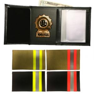 Product Image 1 for custom badge wallet product Recessed Bunker Badge Wallet w/ Single ID Window