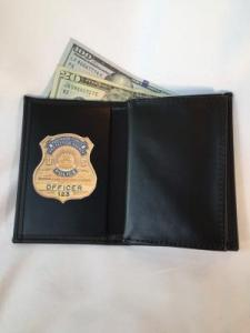 PFPA Double ID & Badge Wallet holds money and credit cards.